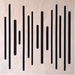 Акустическая панель Woodpanel Wave 500x500x58мм