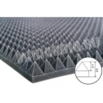 Акустический поролон Пирамида 30мм (~2000x1000x45мм)